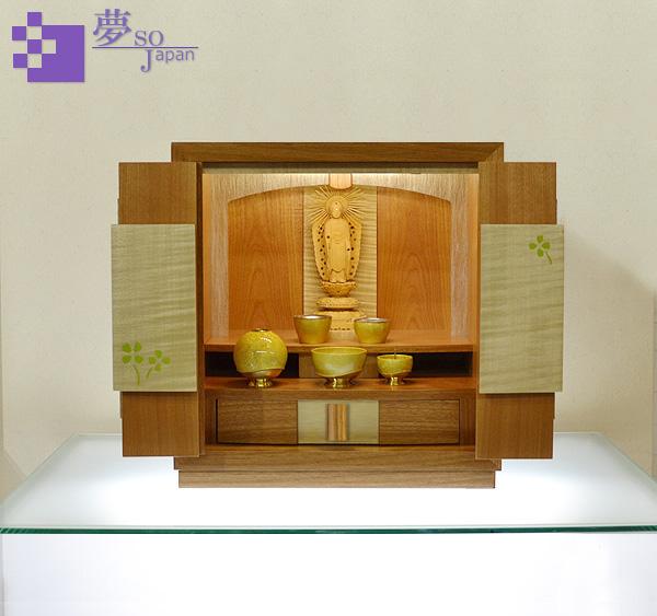 モダン上置コンパクト仏壇 [夢soJAPAN 四葉のクローバー ]画像1