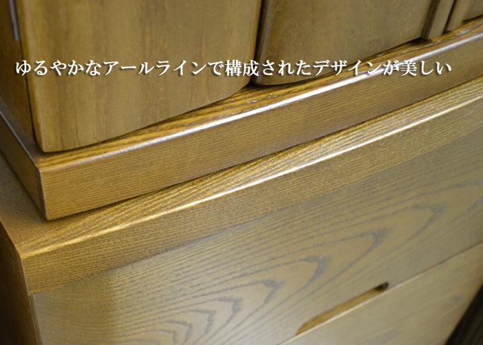 仏壇台「ばんり」3段 タモ材 ダーク色/ライト色画像8